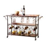 La fábrica vende al por mayor el estante de visualización del metal con muebles del estante de la botella de vino