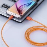 cable Enredar-Libre trenzado del USB 3.0 del micr3ofono del nilón de los 6.6FT/de los 2m para Samsung, HTC, Motorola, Nokia y más androide