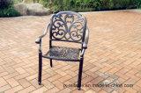 標準的な庭の鋳造アルミの静止した椅子の家具