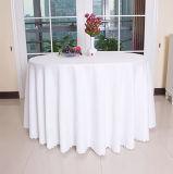 Mantel redondo 100% de la boda del algodón para el hotel
