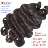 extensões 100% peruanas do cabelo humano do Virgin da onda do corpo 9A