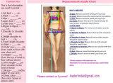 Schutzkappe Sleeves Brautkleid-Reich V-Stutzen Strand-Land-Hochzeits-Kleid Lb1829