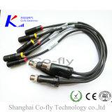 M12 Kabel 4 Actuator van de Stop van de Speld de Waterdichte Splitser van de Schakelaar T Y