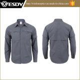 Lungo-Manicotto o maglietta di secchezza veloce esterno dei vestiti degli uomini