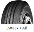 La marca de fábrica TBR de LANWOO pone un neumático el neumático de China (LW807 toda la rueda de la posición)