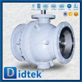 Фланец стержня Didtek чуть-чуть кончает шариковый клапан Trunnion для химически и петрохимического рафинировки