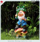 Сад Decoraiton смолаы статуи Gnomes сада напольный