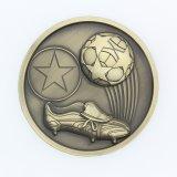 Alliage de zinc en 3D personnalisé Or Argent Bronze Médaille Soccor Football