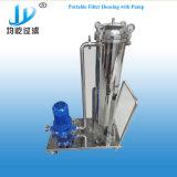 SS304 SS316L do alojamento do filtro de mangas de Lote Industrial com a Bomba