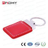 Kundenspezifisches Schlüsselmarken-Leder intelligentes Keyfob des Entwurfs-13.56MHz