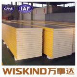 Aislamiento térmico de paneles sándwich de poliuretano ignífugo para paredes y techo
