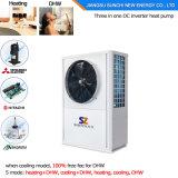 Rapides domestiques installent sauf le pouvoir 2.5kw 150L, 3.5kw 200L, chauffe-eau de 70% complet maximum de pompe à chaleur de 260L R134A 60deg c Dhw
