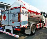O caminhão do Recharge do gás do LPG, LPG móvel montou a estação do patim, caminhão do recharge do LPG