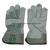 Leder en-388, das mechanische preiswerte Sicherheits-Handschuhe bearbeitet