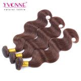 Yvonne Virgem peruano de cabelo humano de tafetáCor da onda do corpo #4