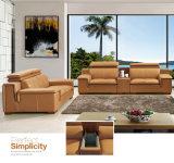 Sofá moderno do couro genuíno do projeto novo para a mobília da sala de visitas (8026)