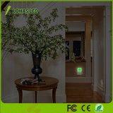 Mini candeeiro 0,3 W Lâmpada Solar Luz noturna LED do sensor de movimentos com ficha EU/EUA/Reino Unido