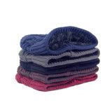 メンズレディース男女兼用の二重層は点検した帽子のスキーの暖かい冬によって編まれたスケートで滑る帽子の帽子(HW410)を