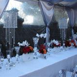 بلّوريّة زهرة حامل قفص عرس طاولة جزء أساسيّ [كندلهولدر] [بنقوت تبل] زخرفة عرس زخرفة