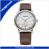 Relógio de quartzo da alta qualidade com a faixa do couro genuíno