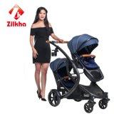 Passeggiatore del bambino con il blocco per grafici Frame+Carseat e Carrycot e due posteriori in uno
