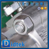 Programável Didtek assentado F304 Extremidades Roscadas da Válvula de Esfera Flutuante