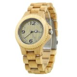 Eco friendly Movt de lujo reloj de cuarzo Custom Wood ver