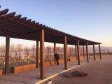 Pergola composito di plastica di legno esterno di alta qualità