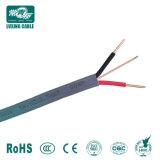 Conducteur en cuivre massif de 1.5mm 2.5mm 4mm double et câble de masse 2 ou 2+1 de base Core câble plat