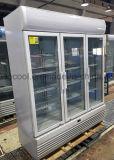 3 porta de vidro frigoríficos comerciais de bebidas com Compressor Embraco
