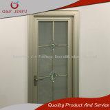 Puerta de cristal doble de aluminio del cuarto de baño del marco con los modelos decorativos