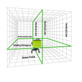 8 ligne niveau autorégleur de laser de vert avec la bride de mur