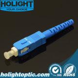 Connecteur optique de fibre de SM de Sc pour le projet de FTTX
