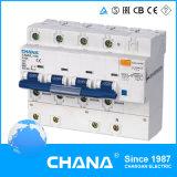 Camhl-100 elektronisch Type RCBO (RCCB met de Bescherming van de Te sterke intensiteit)