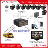 Монитор обеспеченностью школьного автобуса от видеозаписывающего устройства 8CH 1080P