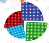 Sector especial Unnewest projetado 60*60cm Forma Secique Redonda Interativo Portátil Fase de casamento iluminação LED RGB de Dança
