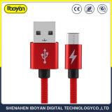 El logotipo de personalizar el teléfono móvil de carga de datos cable micro USB