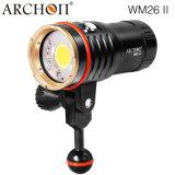 플래쉬 등 수중 스쿠버 스포츠 잠수 빛 LED 토치 이중 밖으로 Archon Wm26II