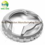 Подгонянная алюминиевая облегченная крышка топлива с обслуживанием CNC подвергая механической обработке