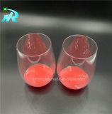 10oz Stemless en plastique de verre de vin en verre de vin de glace
