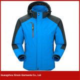 Azul con estilo 3 del diseñador en 1 chaqueta caliente de Winbreaker del esquí (J129)
