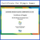 Decking olympique de la longue vie WPC de qualité pour l'usage extérieur
