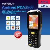 Zkc3505 3G WiFi NFC/RFID GPRS Scangle Handbediende Ruwe PDA met Ingebouwde Printer