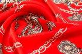 o costume do lenço 100%Silk faz impresso