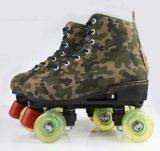 Chaussures à quatre roues de patin de rouleau de modèle de camouflage