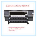 Tissu de polyester numérique Sublimation imprimante avec 4PCS Epson 5113 chefs