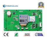 Intense luminosité, TFT LCD de 7 pouces avec le contact résistif Screen+RS232