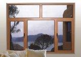 Het dubbele Houten Venster van het Glas met het Binnen Openen van de Gordijnstof
