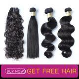 100% virgem de corte de cabelo humano livre de pêlos peruana