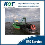 熱い販売の良質の油圧14インチのカッターの吸引の砂の浚渫船